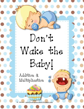 Don't Wake the Baby! Addition & Multiplication Math Center Game