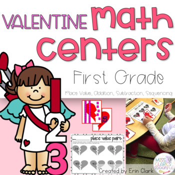 Don't You LOVE Math? February Themed Math Tubs {Common Core Aligned}
