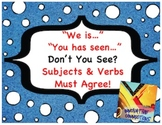 Don't You See Subjects & Verbs Must Agree? 216 Cards-Sentence Parts!
