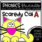 Short Vowel a: Scaredy Cat A Phonics Friends