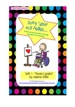 """Don't """"diss"""" my Ability - reading comprehension activities for """"Susan Laughs"""""""