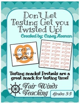 Don't get Twisted during the Test labels