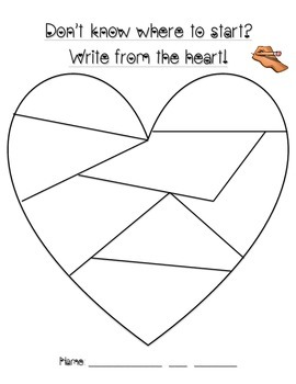 Don't know where to start? Write from the heart!