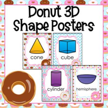 Donut 3D Shape Posters