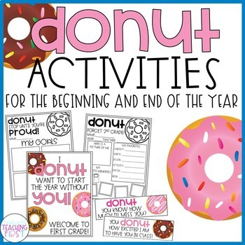 Donut Activities for the Beginning and End of the Year