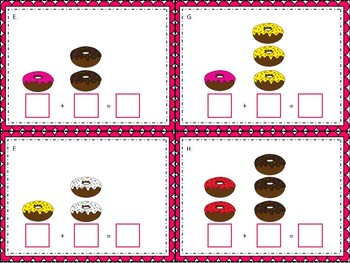 Donut Addition Math Center