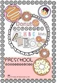 Donut Alphabet Activity A.B.C. For Preschool And Kindergarten.