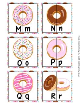 Donut Alphabet Letter Match Puzzles