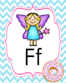 Donut Alphabet Posters A - Z