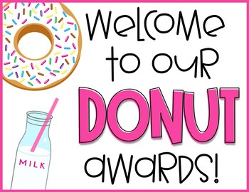 End of the Year Awards -Donut Awards EDITABLE Distance Learning Google Classroom