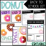 Donut Back To School/ Meet The Teacher Set