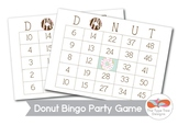 Donut Bingo Printable with Call Cards