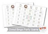 Donut Bingo Printable with Call Cards