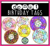 Donut Birthday Tags / Labels