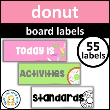 Donut Board Labels