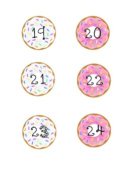 Donut Book Box Numbers