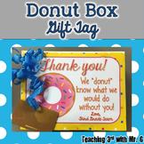 Donut Box Gift Tag  editable 
