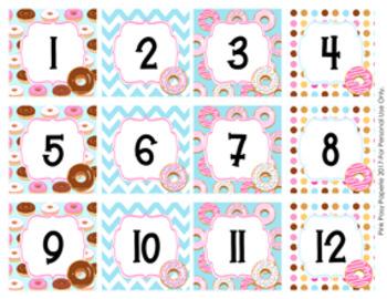 Donut Calendar Numbers