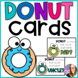Donut Cards- Donuts with Dad