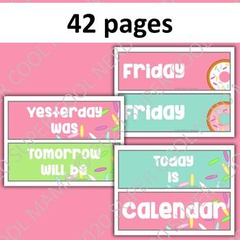 Donut Classroom Calendar Components