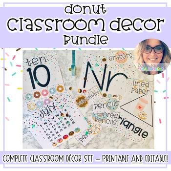 Donut Classroom Decor - EDITABLE BUNDLE