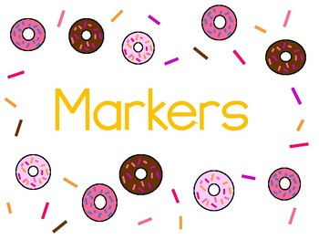 Donut Classroom Labels