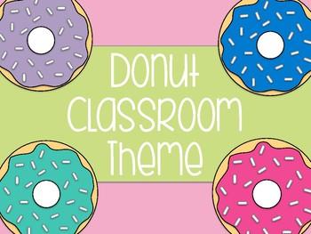 Donut Classroom Theme