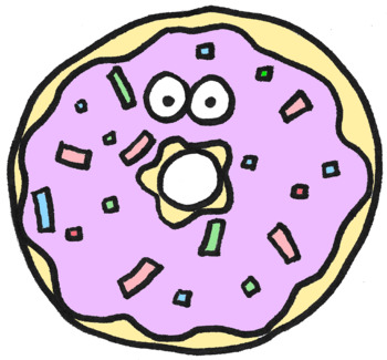 donut clipart by perfectlyimperfectart teachers pay teachers rh teacherspayteachers com donut clip art black and white donut clipart png