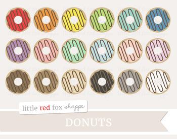 Donut Clipart; Baking, Dessert