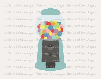 Gumball Machine Clipart; Candy