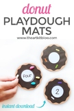 Donut Counting Cards - Playdough Mats - Activity Sheets fo