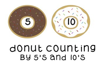 Donut Counting by 5's and 10's Primary Math Center