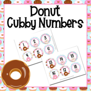 Donut Cubby Number Labels 1-30