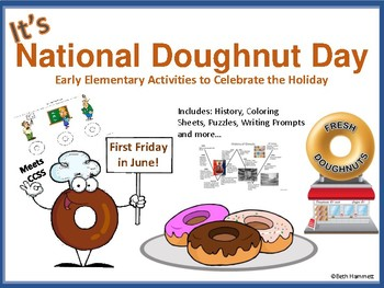Donut Day Early Elementary Activities
