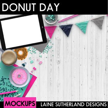 Donut Day Scenes Styled Mockups