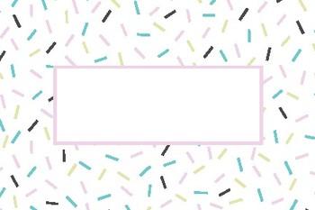 Donut Days Blank Editable Labels Flashcards