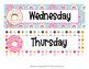 Donut Days of the Week Calendar Headers