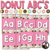 Donut Decor - Editable Alphabet