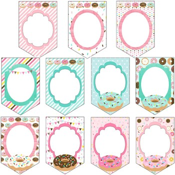 Donut Decor - Editable Banners
