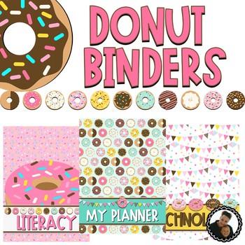 Donut Decor - Editable Binder Covers