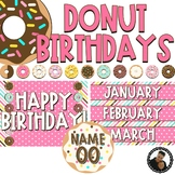 Donut Decor - Editable Birthday Display