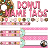 Donut Decor - Editable Name Tags