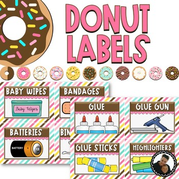 Donut Decor - Editable Supply Labels
