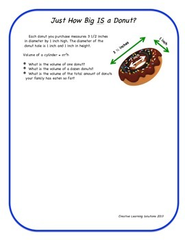 Donut Delight; Advanced Problem Solving Task Activities
