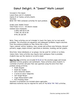 "Donut Delight Free Sample Lesson ""Coupon Craze"""