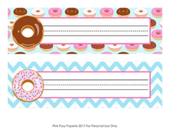 Donut Desk Name Plates Classroom Decor