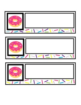 Donut Desk Name Tag