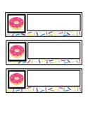 Donut Desk Name Tag