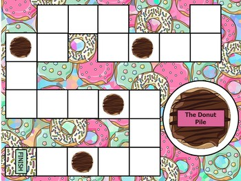 Donut Digits Math Board Game- Addition and Subtraction Up To 20