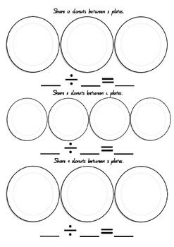 Donut Division Worksheet